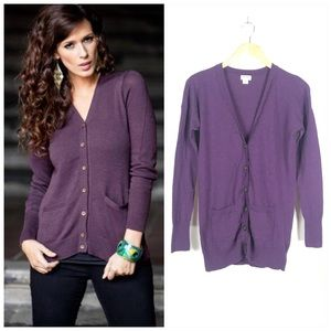Mossimo Purple Sweater Cardigan with Buttons